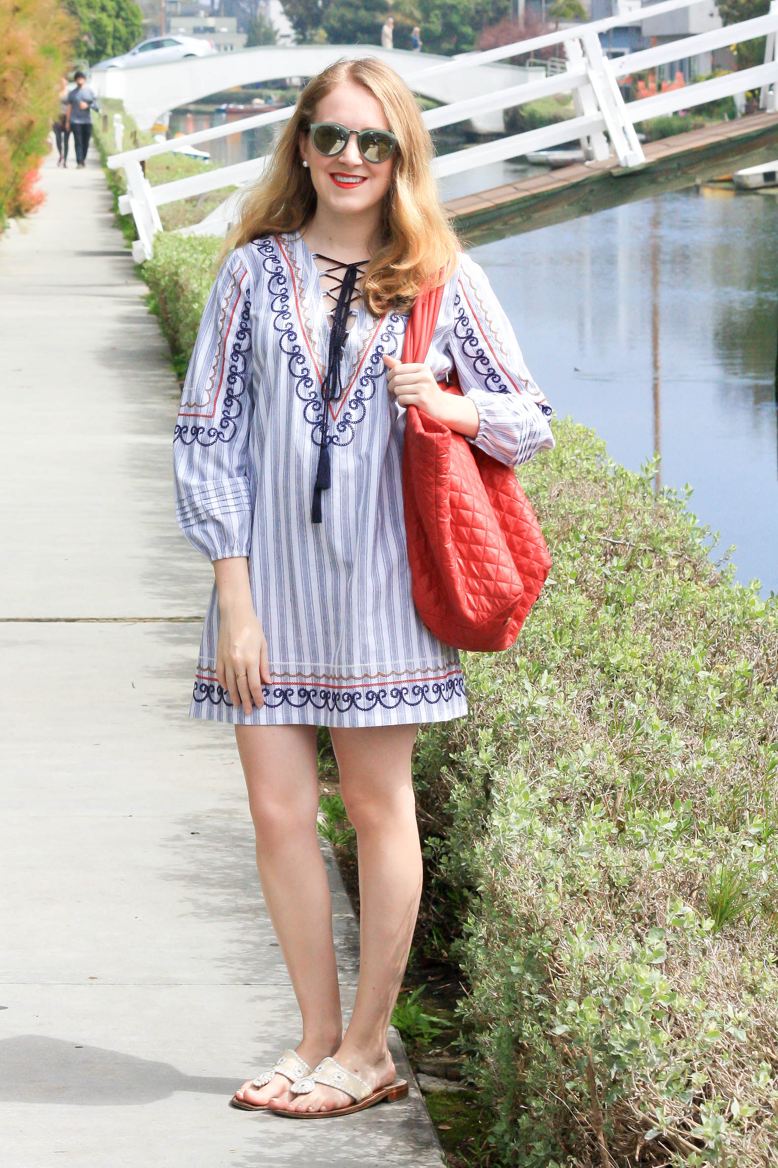English Factory Multicolor Embroidered Smock Dress And Mz