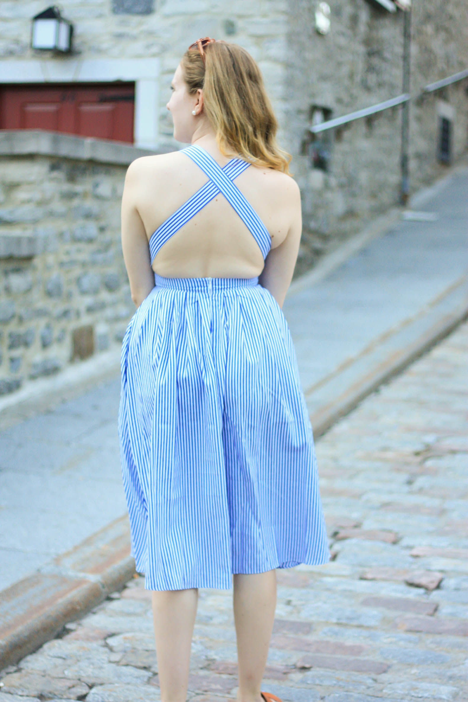 SheIn Striped Criss Cross Back Swing Dress, Tips for Planning A Day Trip // Pearl Girl